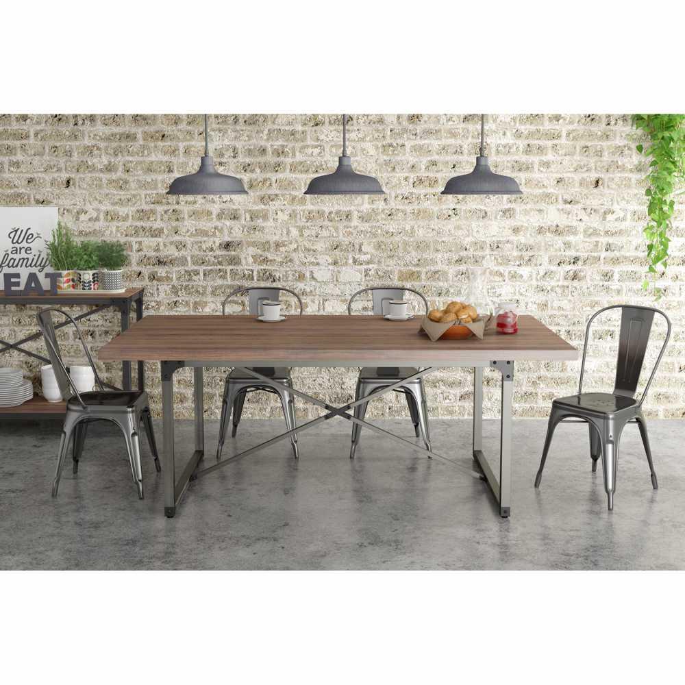 Mesa de Jantar 8 lugares 200x100cm Steel 14002 Artesano