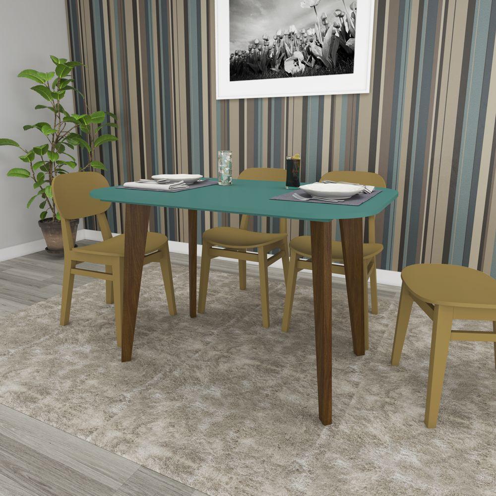 Mesa de Jantar com Cantos redondos 1,20m RT 3131 Movelbento