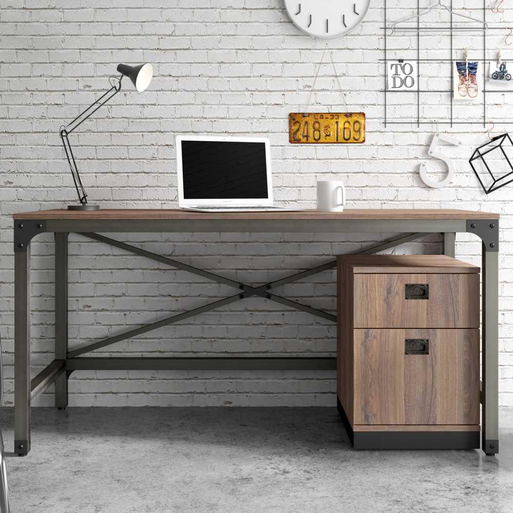 Mesa Escritório Escrivaninha Estrutura em Aço 150cm Steel Artesano