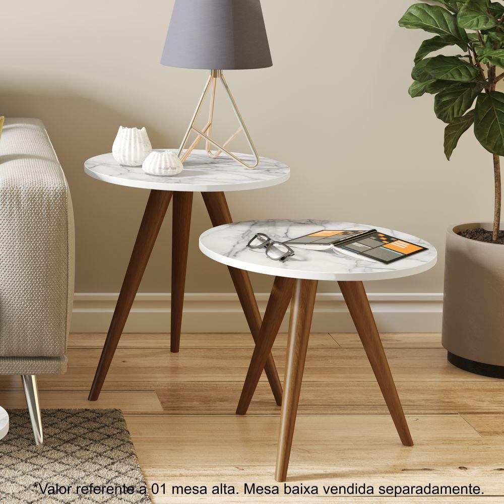 Mesa lateral alta pés palito 45cm 1006 Retrô Be Mobiliário