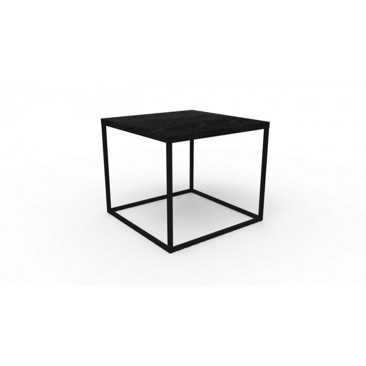 Mesa Lateral Baixa Cube Ferro e MDF 24803 Artesano