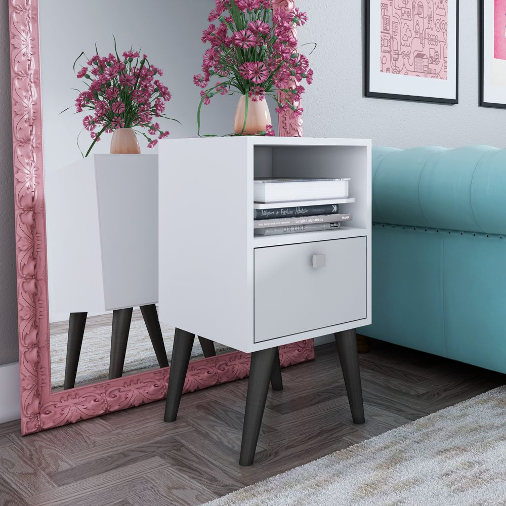 Mesa Lateral mesa de cabeceira Retrô Pés Palito BPP 01 BRV Móveis