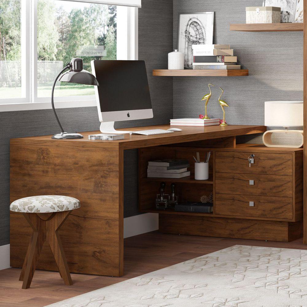 Mesa para Computador 170cm 3 Gavetas 100% MDF TC141 Dalla Costa