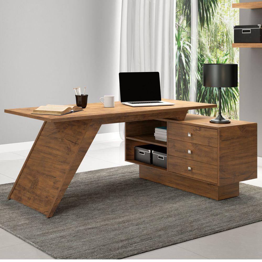 Mesa para Computador 3 Gavetas 100% MDF TC140 Dalla Costa