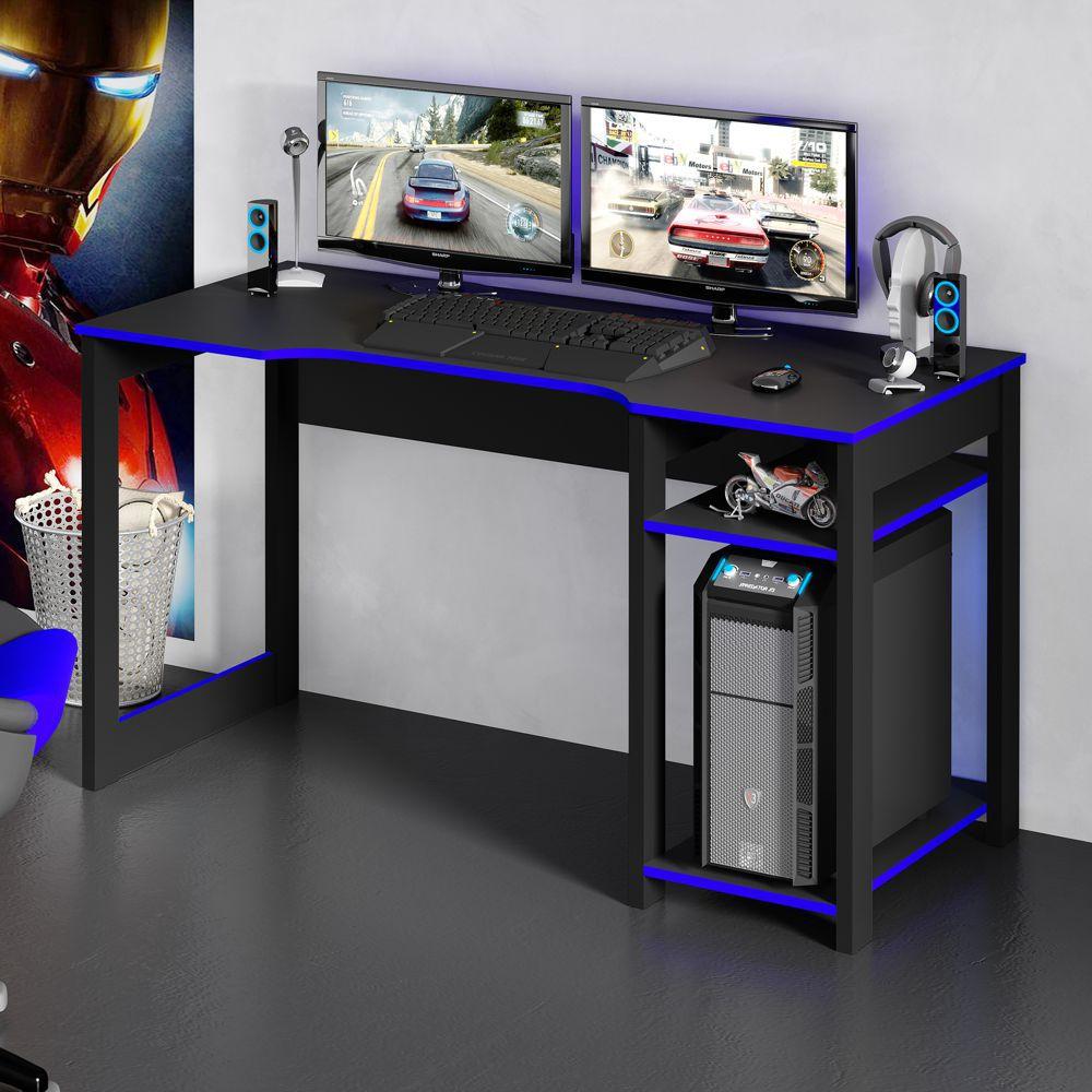 Mesa para Computador Gamer 1,36m com Suporte para Monitores ME4152 Tecno Móbili