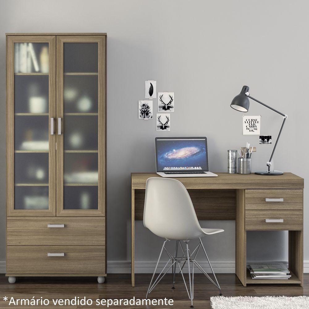 Mesa para Computador ou Escritório Malta 2 Gavetas Politorno