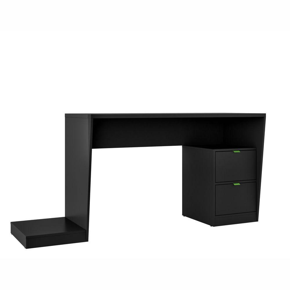 Mesa para Computador Preta Gamer 1,73m BMG 01 BRV Móveis
