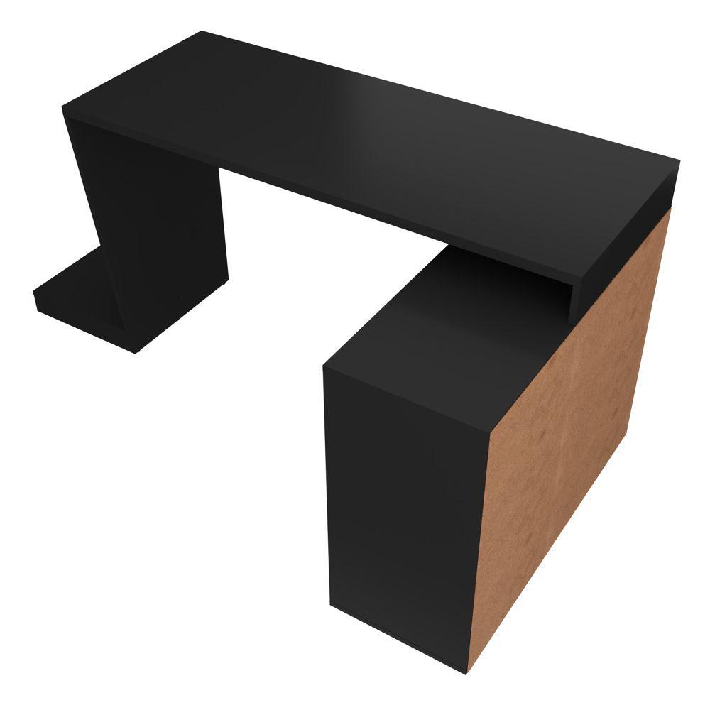 Mesa para Computador Preta Gamer com Estante BMG 03 BRV Móveis
