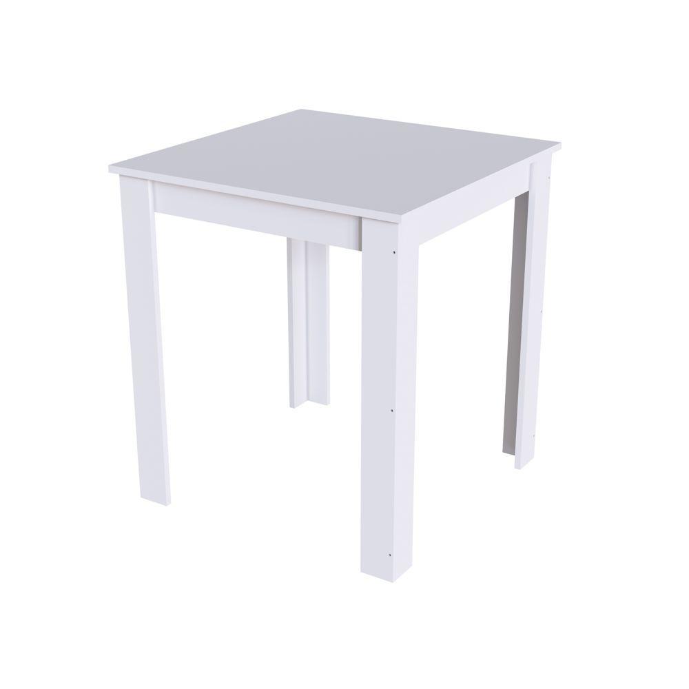 Mesa para Cozinha Quadrada 68x68cm Branca ou Preta Amalfi MS700 Mia Coccina