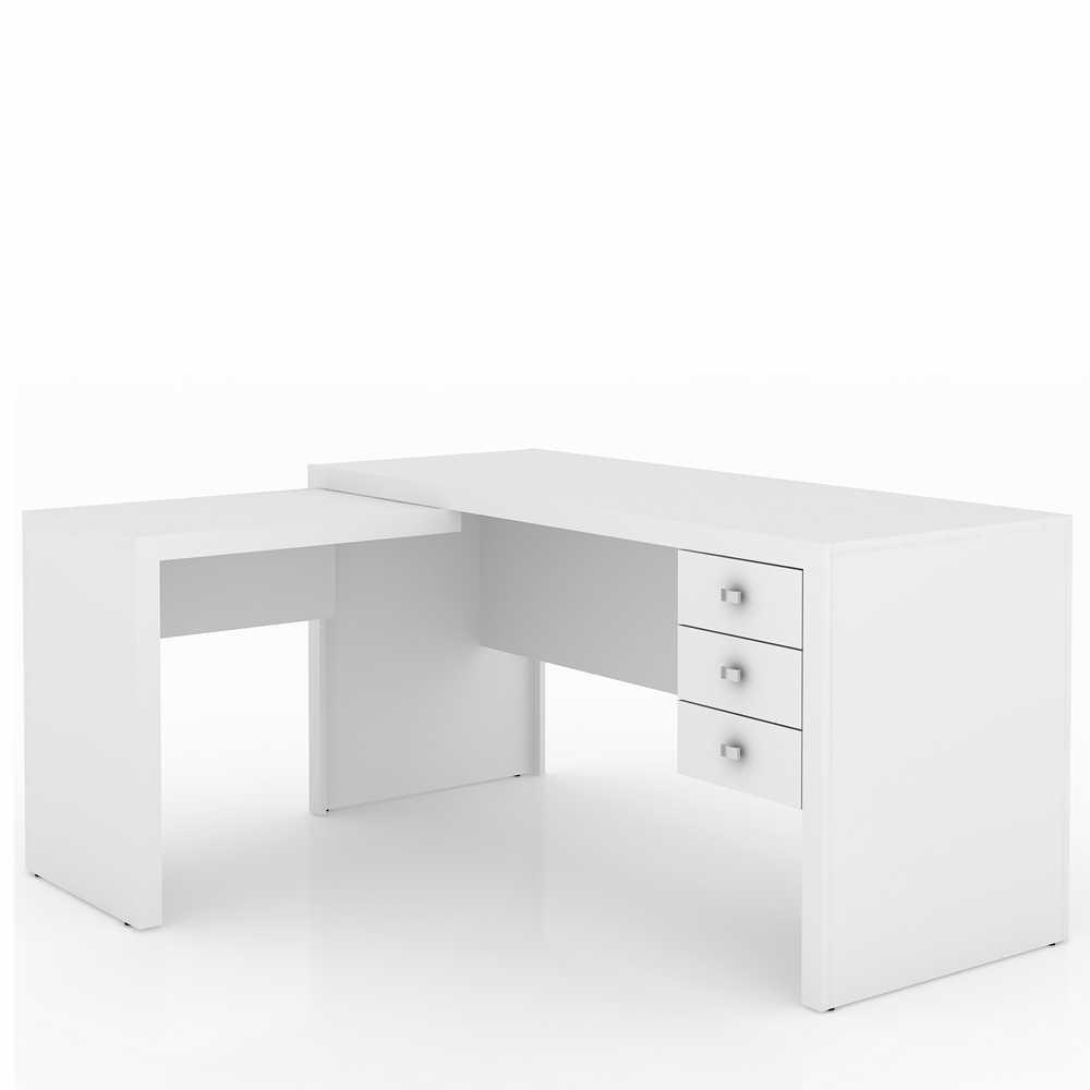 Mesa para Escritório de Canto 3 gavetas ME4106 Tecno Móbili