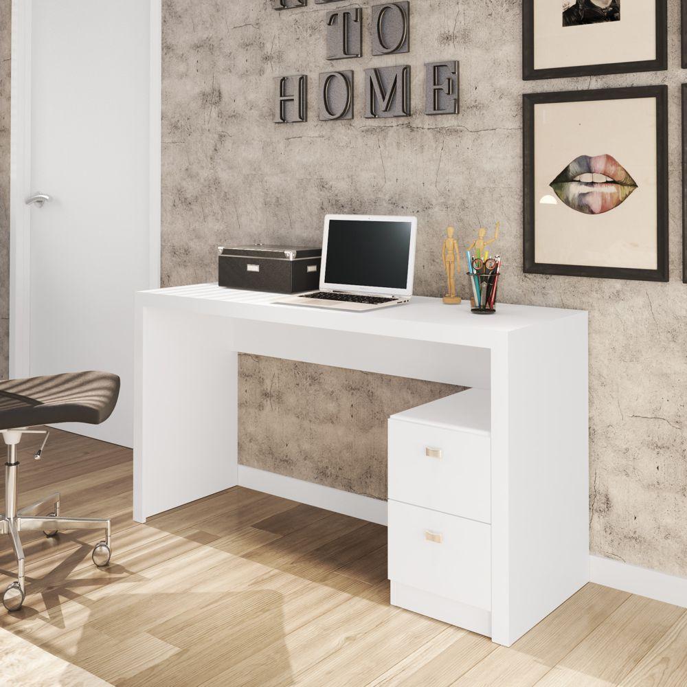 Mesa para Escritório Engrossurada 1,36m 2gav Várias Cores ME4130 Tecno Móbili