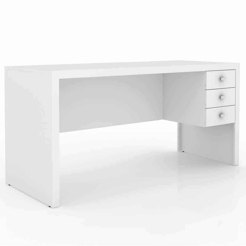 Mesa para Escritório Engrossurada 1,55m 3Gav Várias Cores ME4113 Tecno Móbili