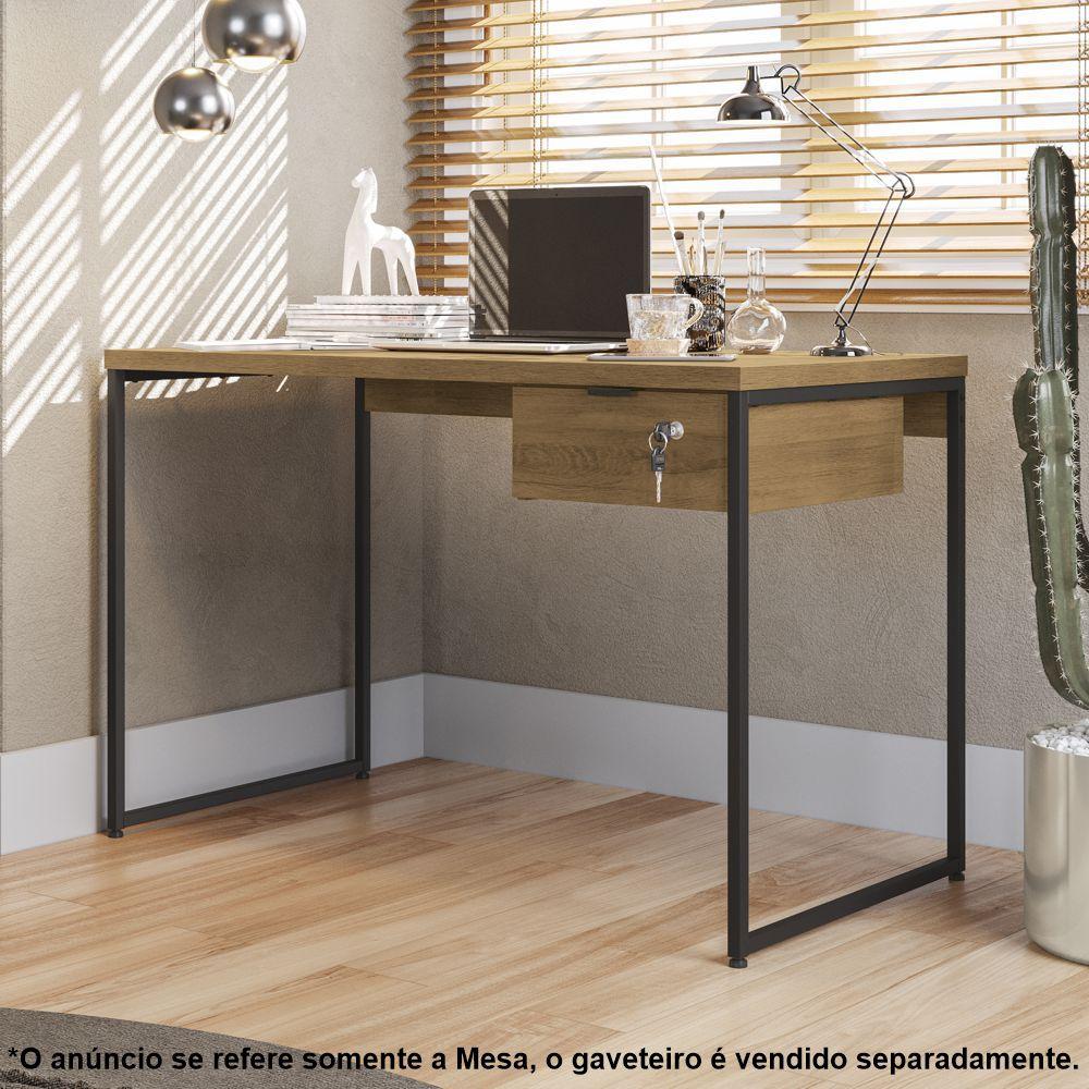 Mesa Para Escritório Estilo Industrial 1,18m LI002 Kappesberg Crome