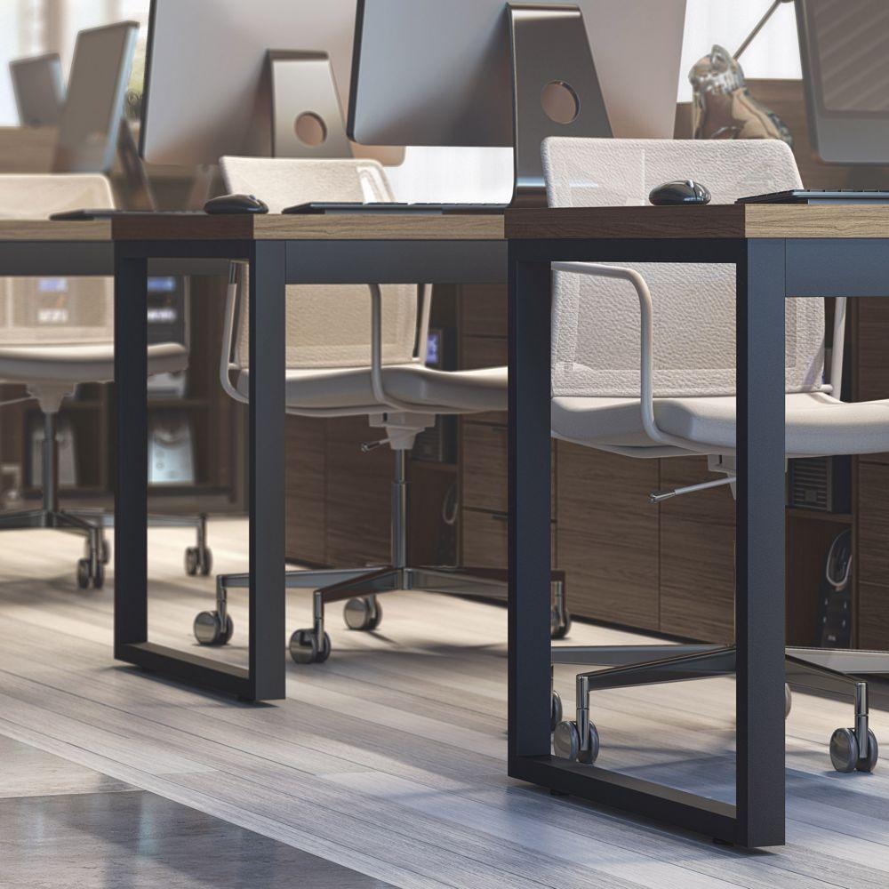 Mesa para Escritório Estilo Industrial 1,50m Pés de Aço Frame F150 Kappesberg