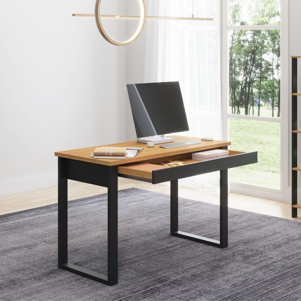 Mesa para Escritório Estilo Industrial 1,18m 1 Gaveta F24 Pradel Móveis