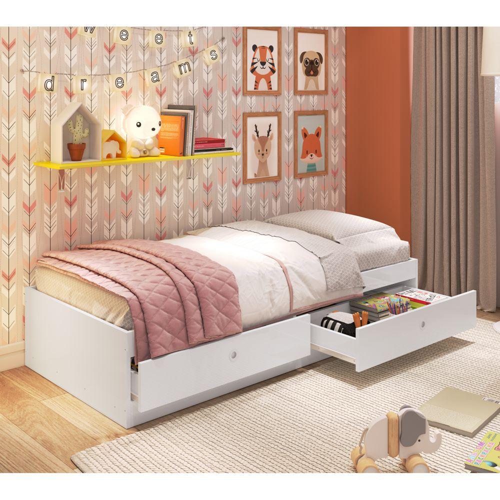 Mini-cama Infantil com gavetas Carinho CI3070 Meu Fofinho