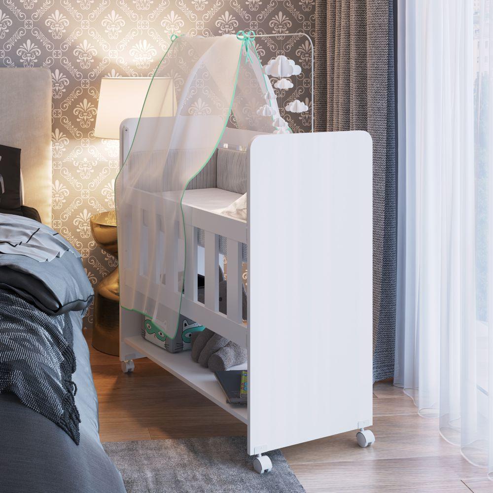 Moisés Bedside Sleepers - Mini Berço com Rodas que vira Escrivaninha Soneca BS1005 Meu Fofinho
