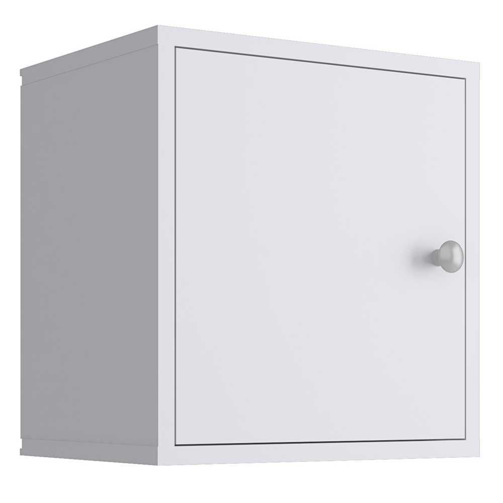 Nicho Cubo 33x35cm com Porta Branco KD1530 Quiditá
