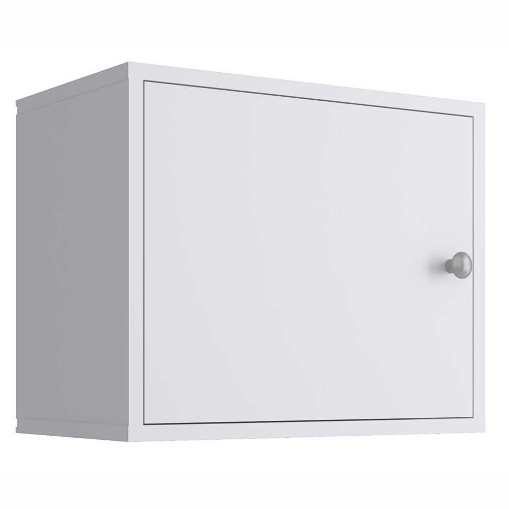 Nicho Cubo 43x35cm com Porta Branco KD1535 Quiditá