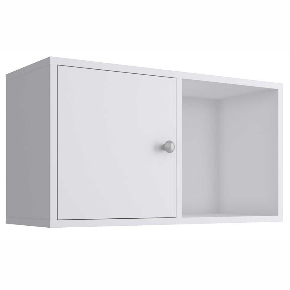 Nicho Cubo 64x35cm com Porta Branco KD1545 Quiditá