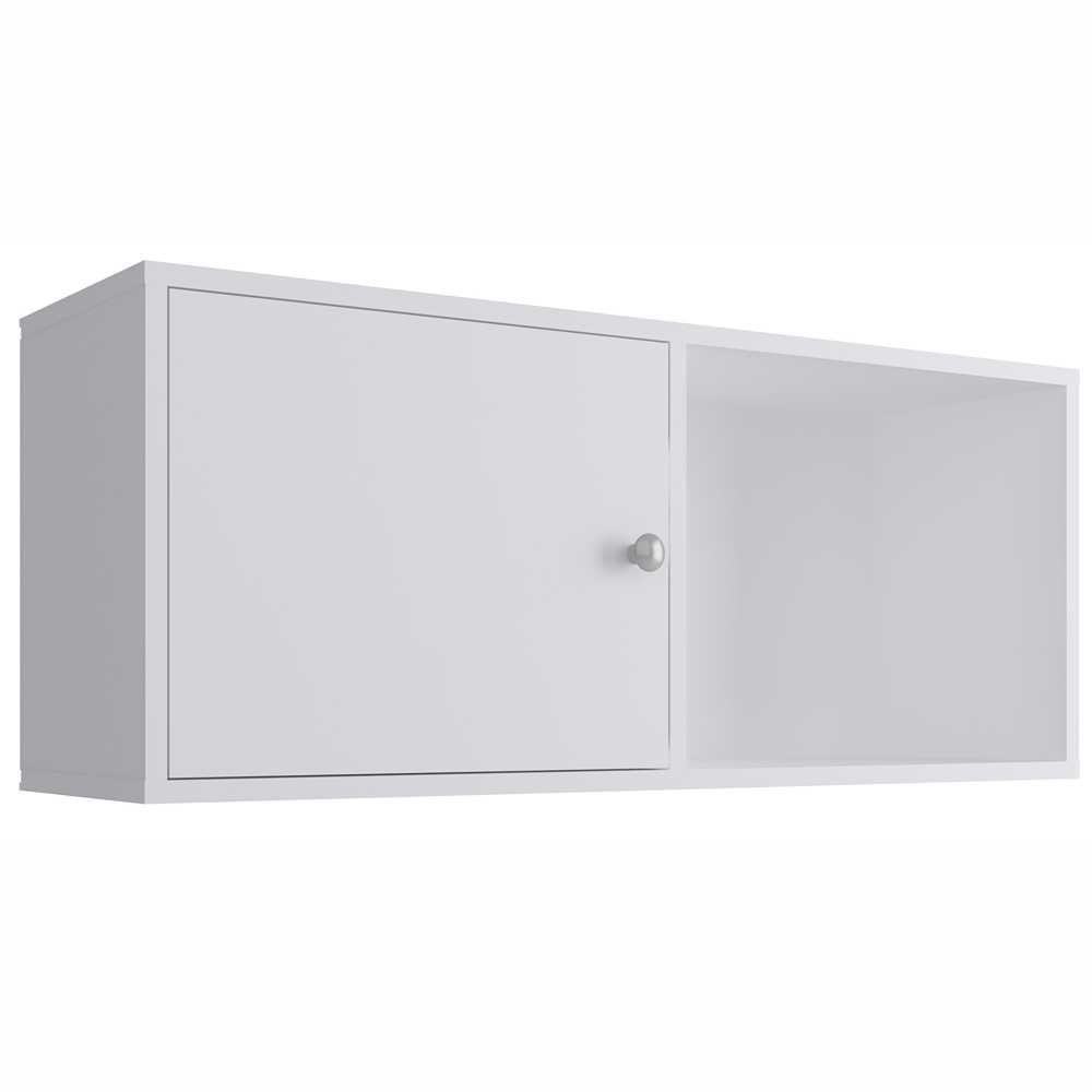Nicho Cubo 84x35cm com Porta Branco KD1550 Quiditá