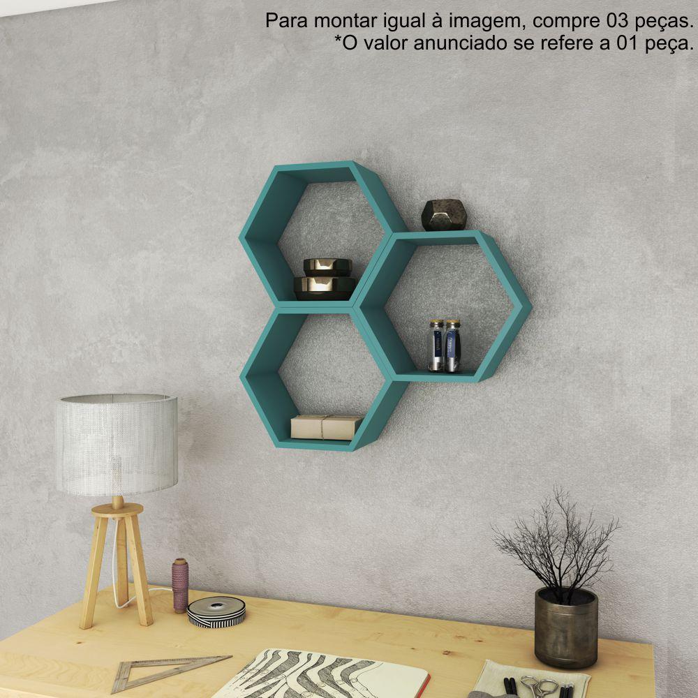 Nicho Hexagonal Decorativo 40cm AM 3129 Movelbento
