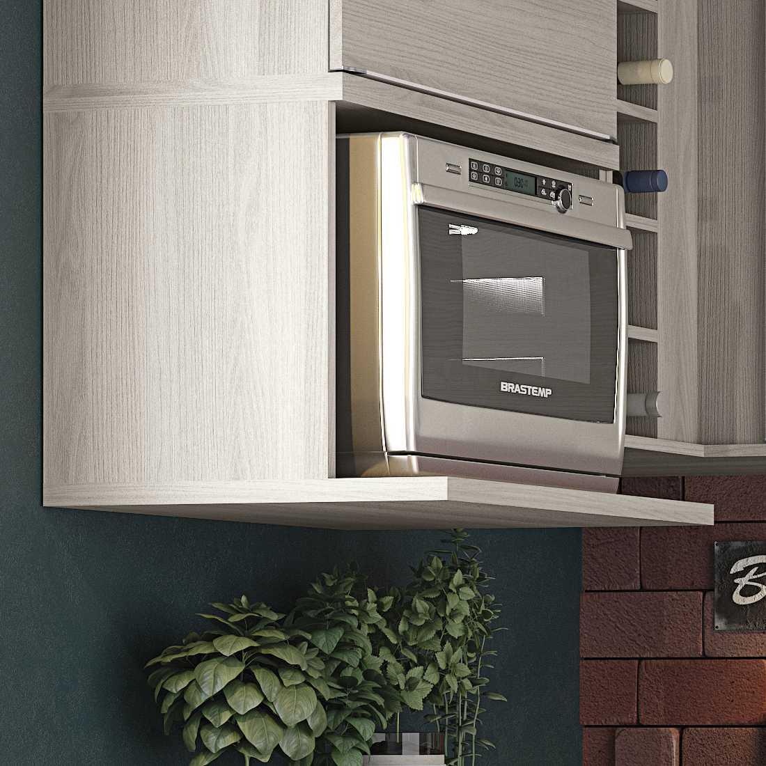 Armário de Cozinha Nicho para Microondas 60cm Versatti C670 Kappesberg