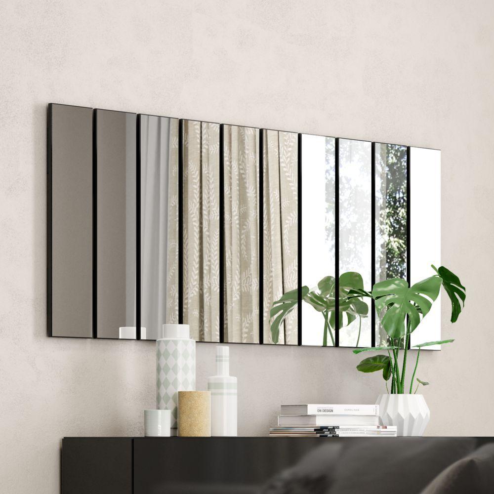 Painel de Espelhos Decorativos Em Barra Vertical 150x70cm TB201 Dalla Costa