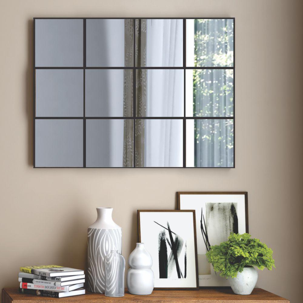 Painel de Espelhos Decorativos Quadriculado 100x75cm TB87 Dalla Costa