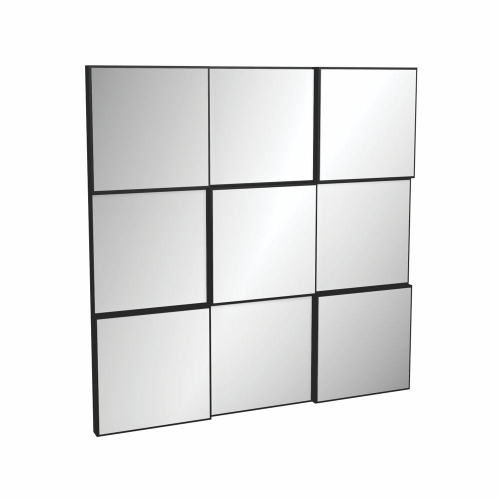 Painel de Espelhos Decorativos Quadriculado 75x75cm TB86 Dalla Costa