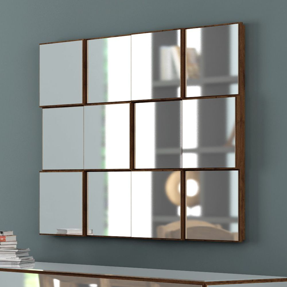 Painel Decorativo Quadriculado Espelhado 100x75cm TB87 Dalla Costa