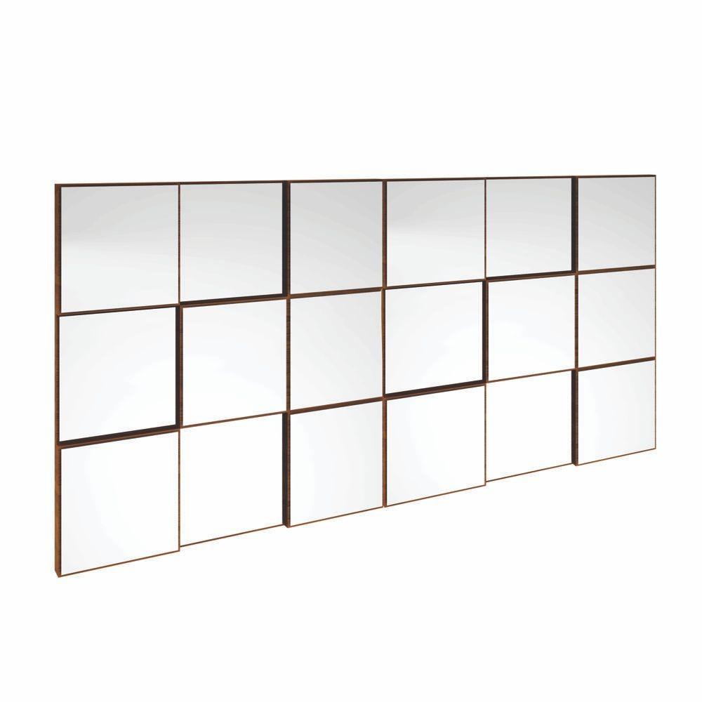 Painel Decorativo Quadriculado Espelhado 150x75cm TB88 Dalla Costa