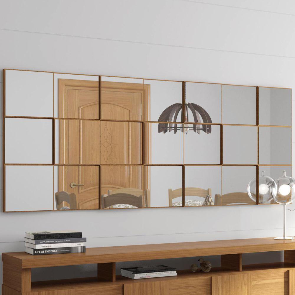 Painel Decorativo Quadriculado Espelhado 175x75cm TB89 Dalla Costa
