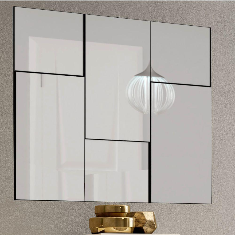 Painel de Espelhos Decorativos Quadrados e Retângulos 90x90cm TB96 Dalla Costa