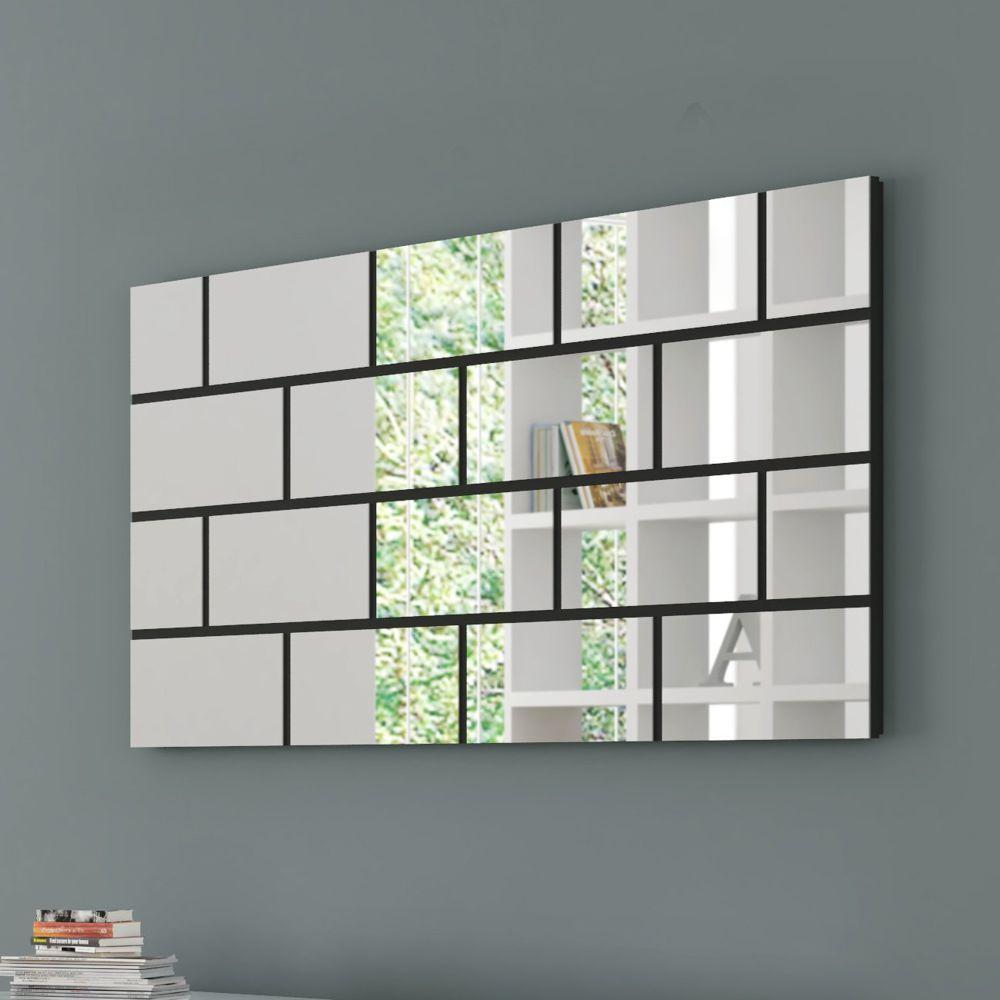 Painel Decorativo com Espelhos Quadriculados 140x70cm TB90 Dalla Costa