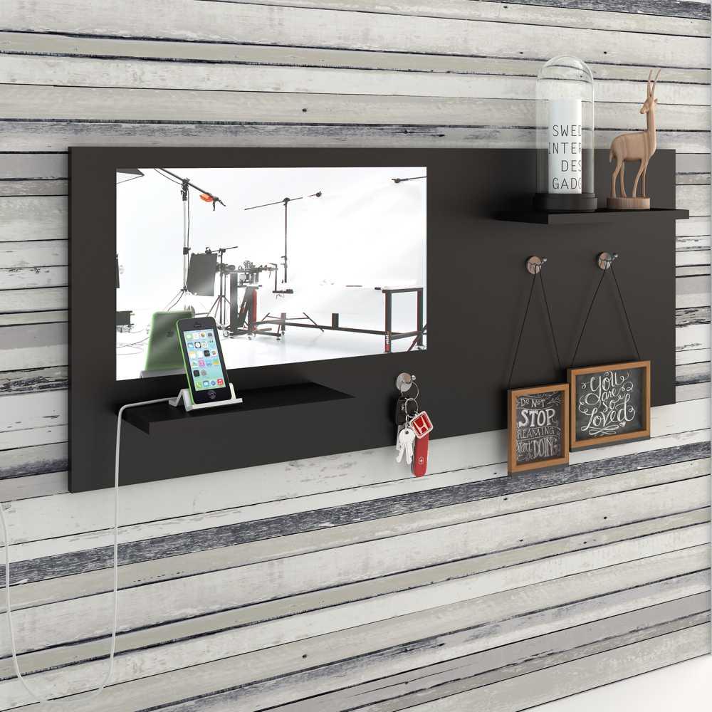 Painel Decorativo Espelheira 110x45cm com prateleiras Look BR20 Estilare