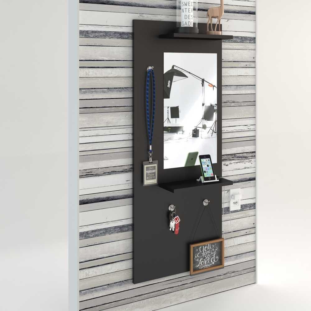 Painel Decorativo Espelheira 45x110cm com prateleiras Style BR22 Estilare