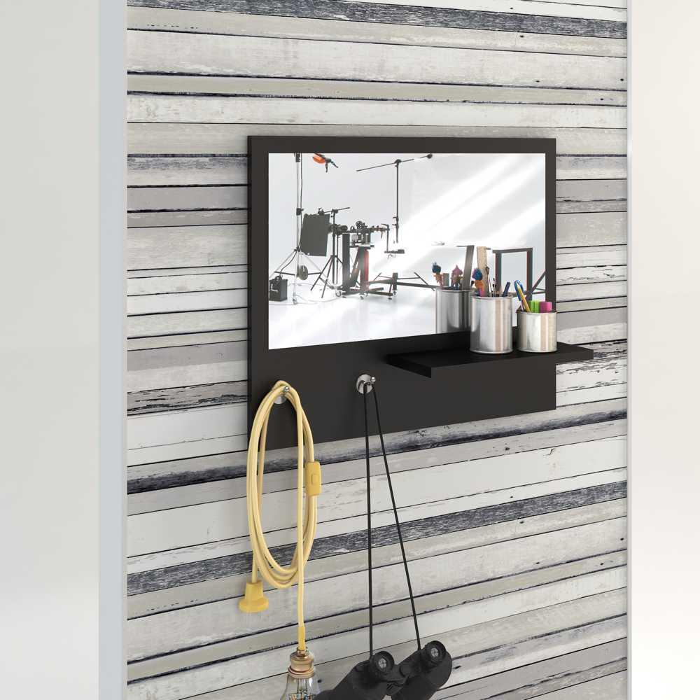 Painel Decorativo Espelheira 55x45cm com prateleira Trend BR21 Estilare