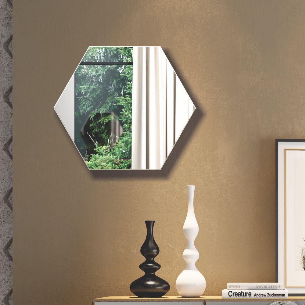 Painel Decorativo Haxágono com Espelho Colado 69x60cm ES3 Dalla Costa