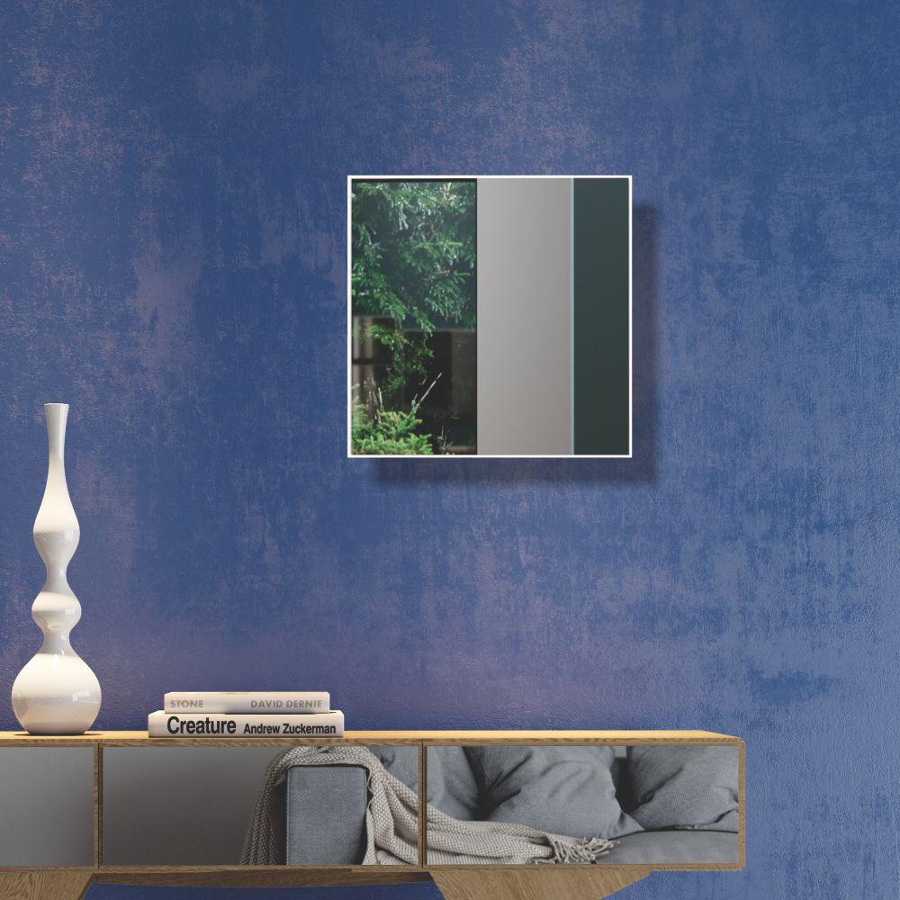 Painel Decorativo Quadrado com Espelho Colado 30x30cm ES5 Dalla Costa