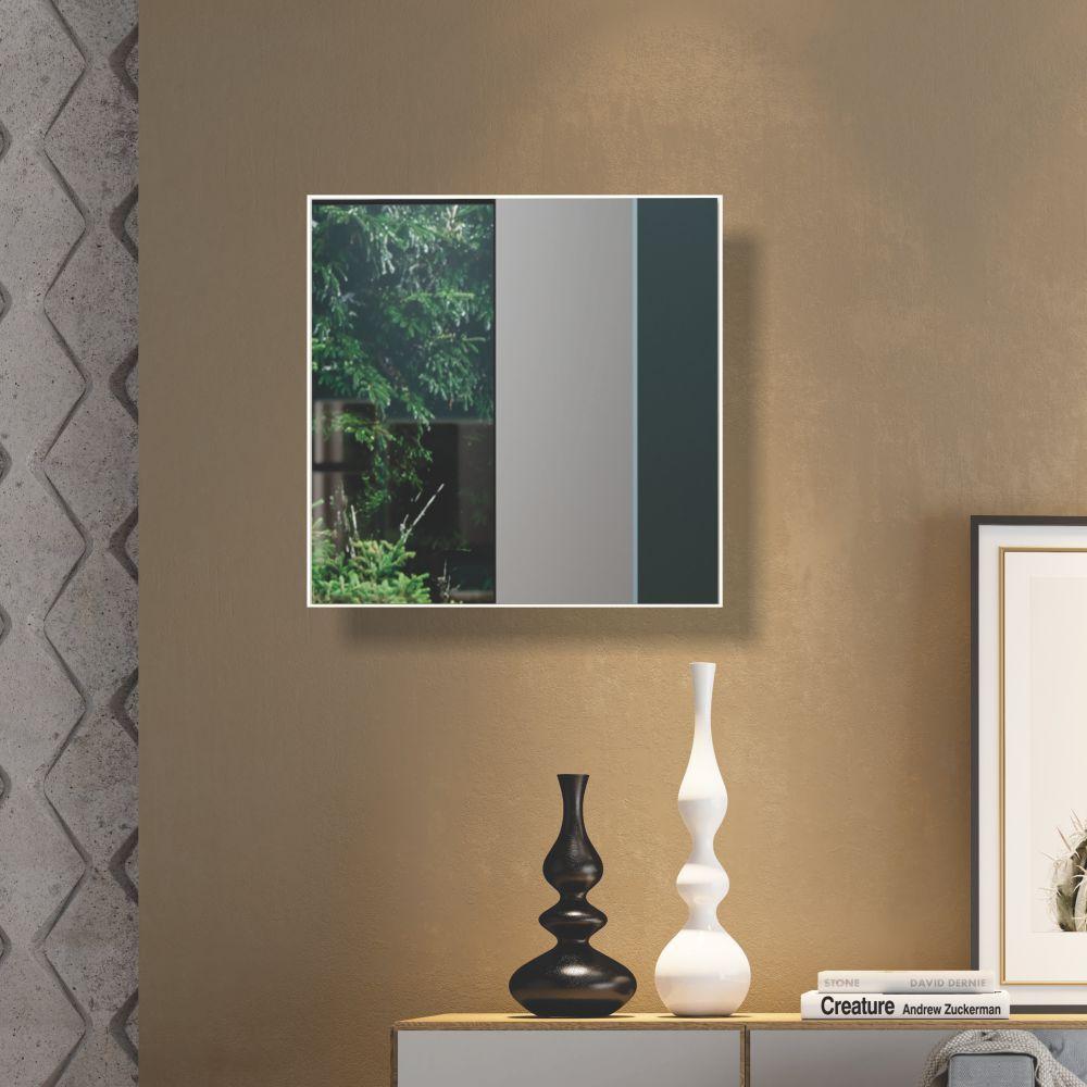Painel Decorativo Quadrado com Espelho Colado 60x60cm ES7 Dalla Costa