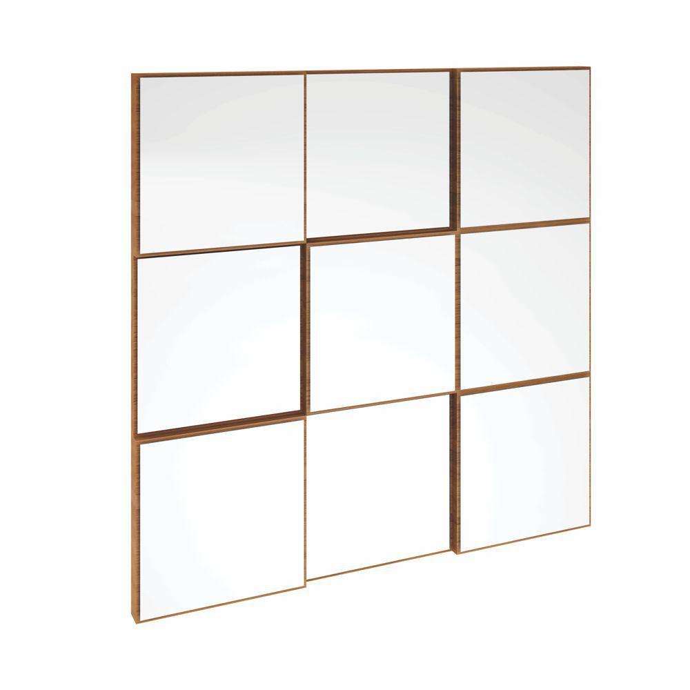 Painel Decorativo Quadriculado Espelhado 75x75cm TB86 Dalla Costa