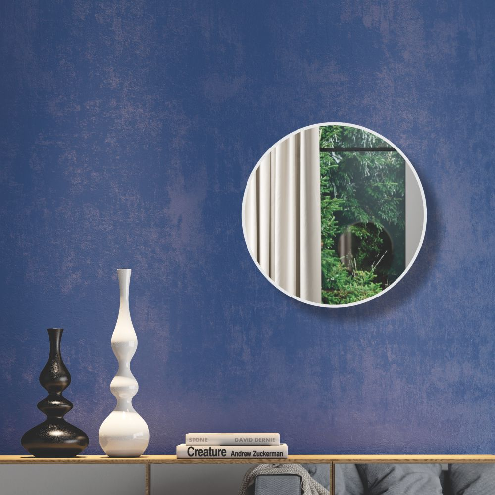 Painel Decorativo Redondo com Espelho Colado 30cm ES9 Dalla Costa