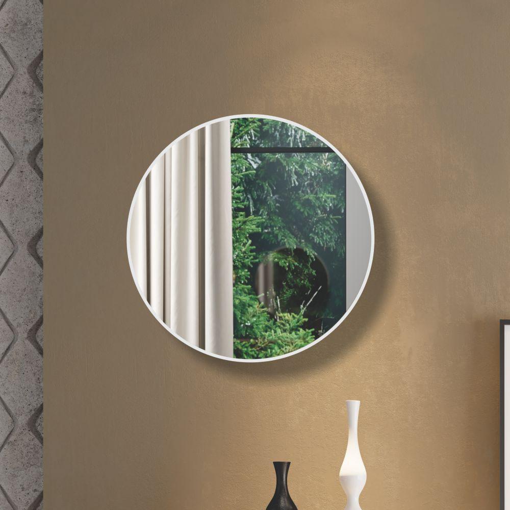 Painel Decorativo Redondo com Espelho Colado 60cm ES11 Dalla Costa