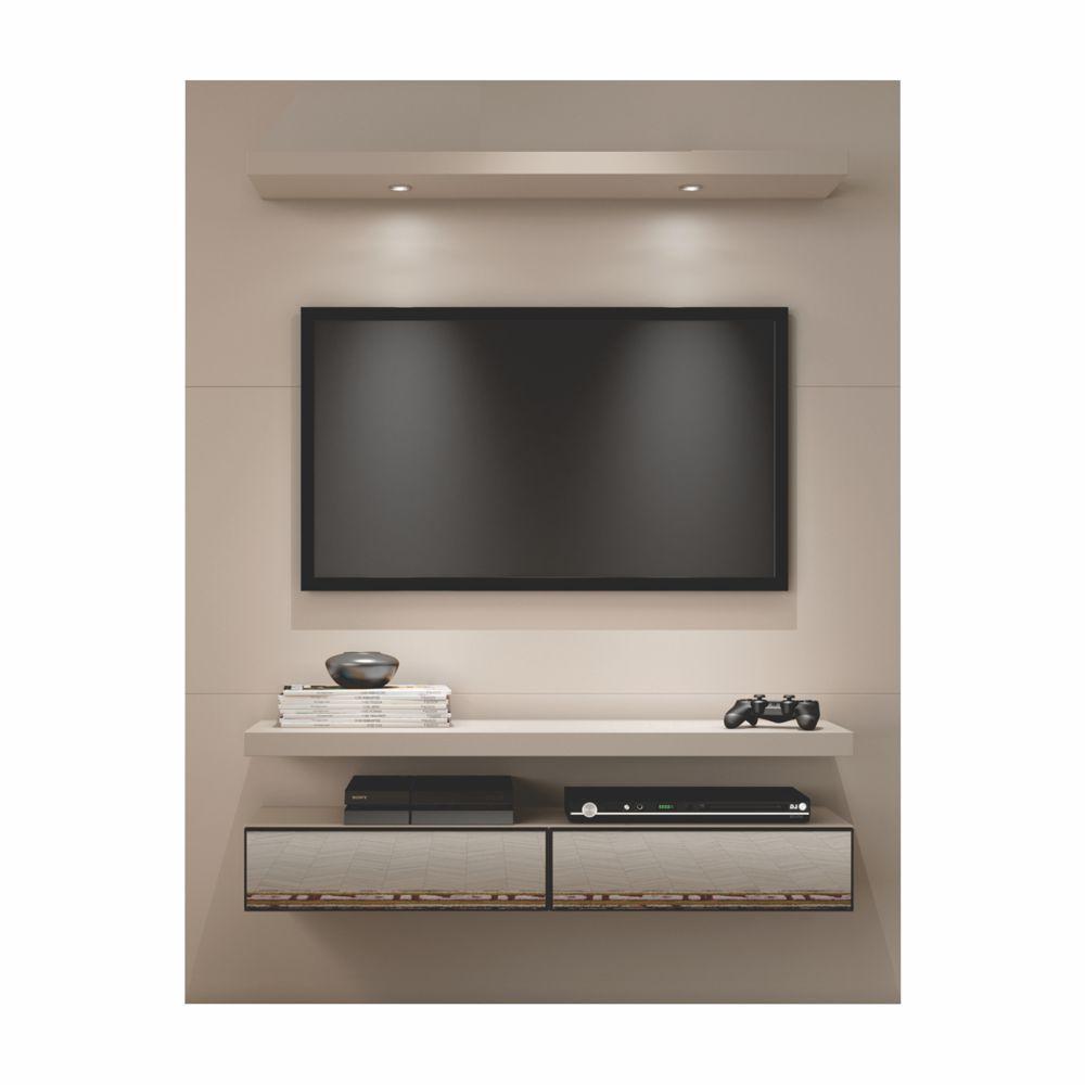 Painel para TV Suspenso 140cm com Led e Espelho TB106E Dalla Costa