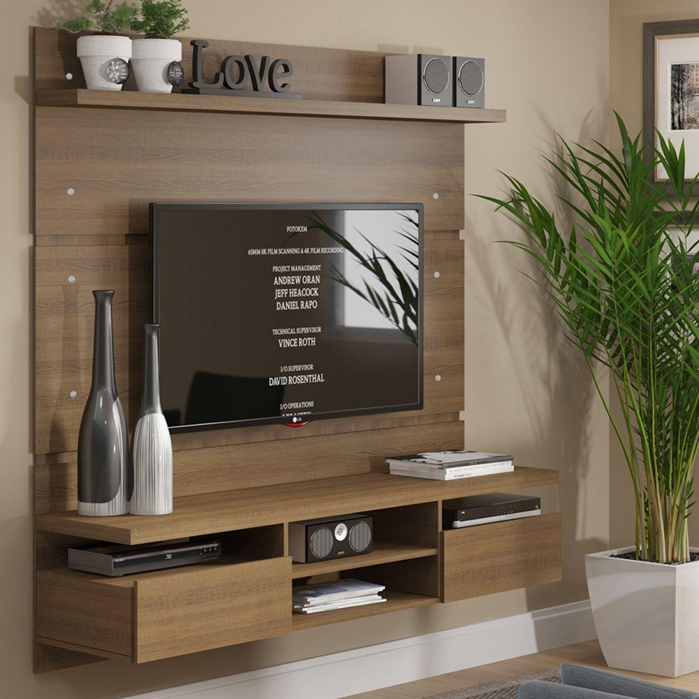 Painel TV 1,60m com 2gav Nichos e Suporte TV Master 2196/2184 Madesa