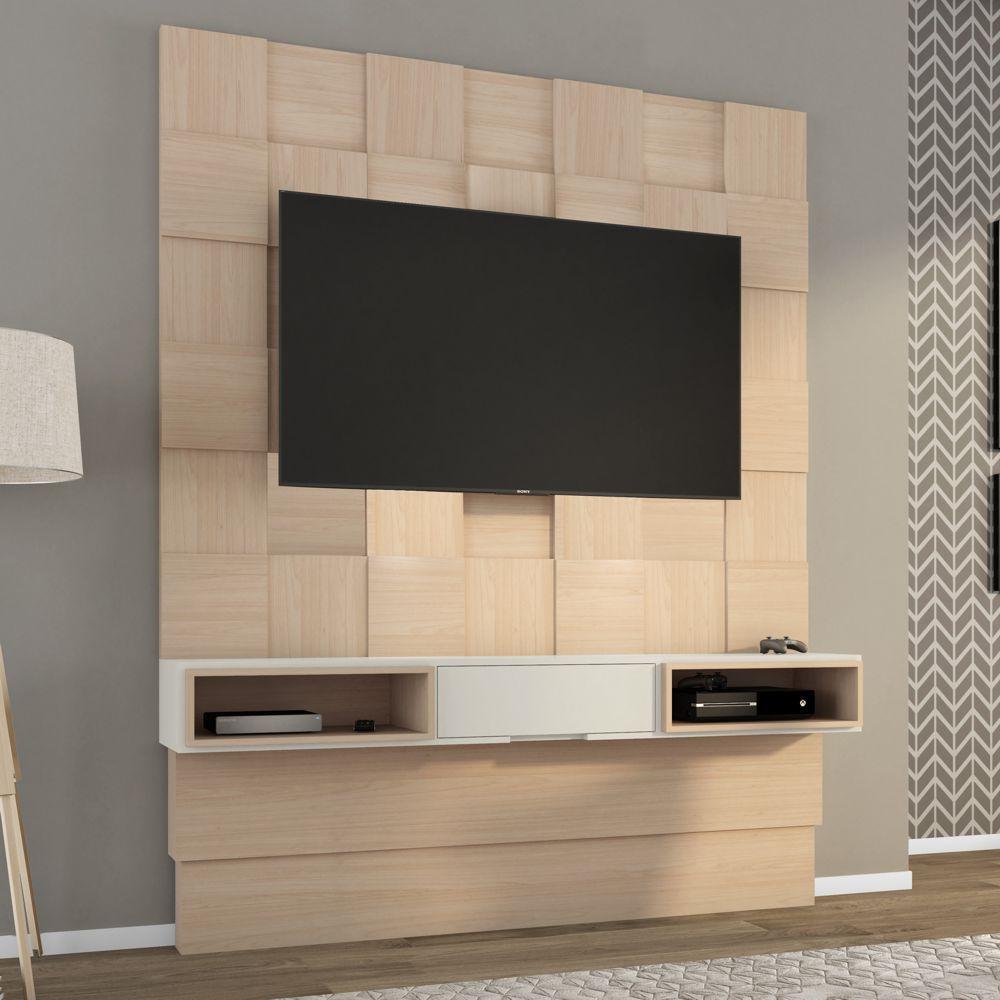 Painel TV Quadriculado 3D com gaveta TB125 Dalla Costa
