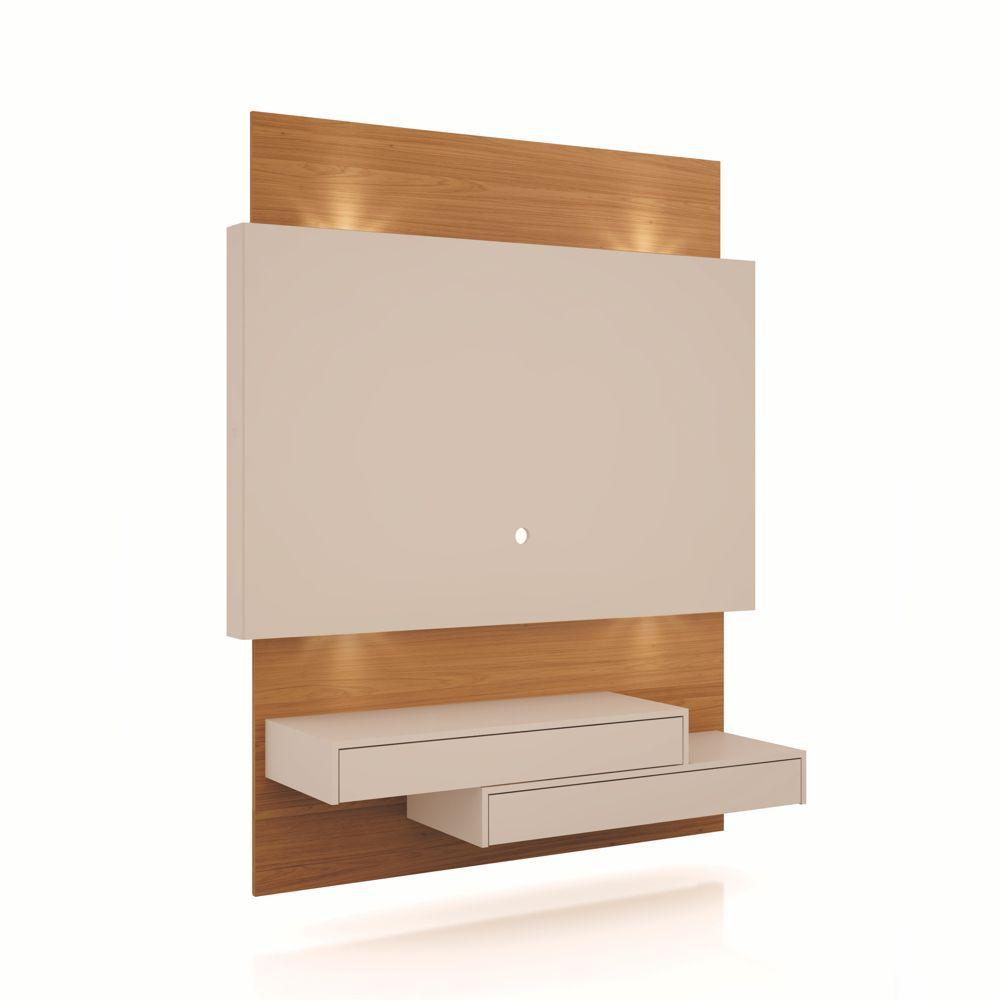 Painel TV Suspenso 140cm 2 Gavetas Luzes LED TB120L Dalla Costa
