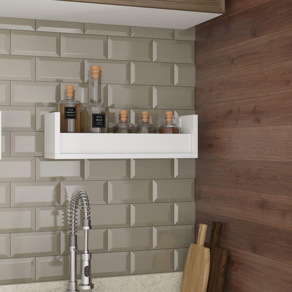 Prateleira Decorativa 44cm para Temperos Cozinha BPL 20 BRV Móveis