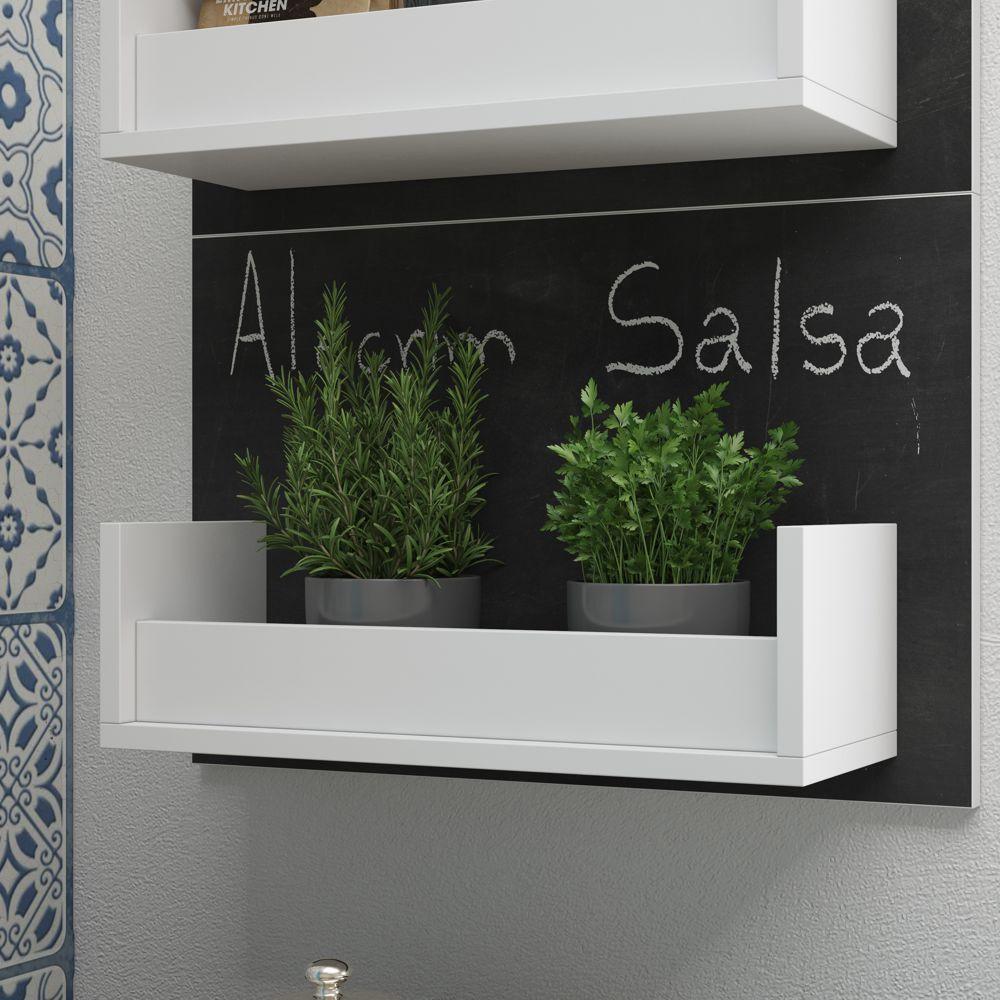 Prateleira Decorativa 53cm para Temperos Cozinha BPL 21 BRV Móveis